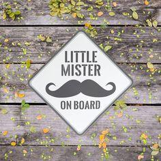 Mister piccolo a bordo - baffi auto adesivo (Baby on Board)