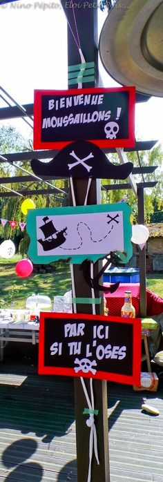 ♦Pirate Party♦ Invitations et déco - Milk and FabricMilk and Fabric Deco Pirate, Pirate Kids, Pirate Theme, Decoration Pirate, Pirate Birthday, Happy B Day, Party Time, Crafts For Kids, Birthday Parties