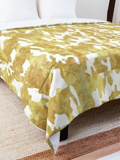 'Gold Camouflage' Comforter by Shane Simpson College Dorm Rooms, Square Quilt, Twin Xl, Camouflage, Quilt Patterns, Comforters, Pillows, Bed, Furniture