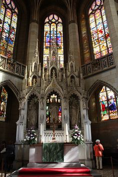 The altar of the Castle Church in Wittenberg, Germany.