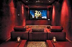 home cinema...leopard accents!