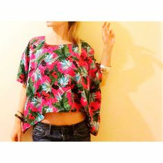 Tropical Top   #top #woman #tropical #floral #fashion #summer #handmade #maryme