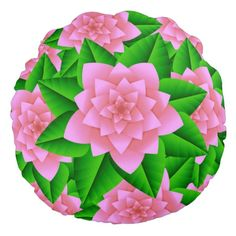 Shop Ice Pink Camellias and Green Leaves Round Pillow created by Floridity. Floral Throws, Floral Throw Pillows, Soft Pillows, Round Pillow, Camellia, Green Leaves, Soft Fabrics, Vibrant Colors, Ice