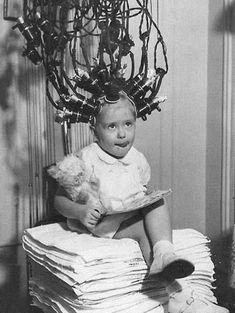 One of the first machines used for permanent wave hairstyling back in the 1920's and 1930's