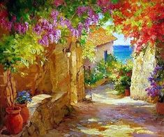 levkonoe: Unknown Painter/ Mediterranian View  [by Sasha Yutkin - Open Gate (?)]
