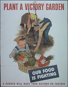 Plant a Victory Garden Our Food is Fighting WWII War Propaganda Art Print Poster Pin Up Vintage, Vintage Ads, Vintage Food, Vintage Recipes, Vintage Prints, Vintage Artwork, Vintage Illustrations, Retro Food, Vintage Menu