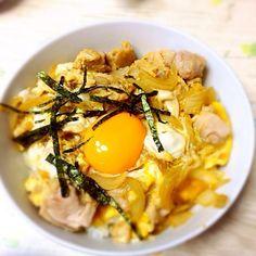 海苔がうまく切れませんでした…(   ´~`  ) - 19件のもぐもぐ - 親子丼 by HARUKA1220