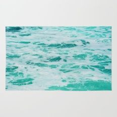 teal waves Rug
