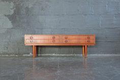 Teak Danish Modern Mini Storage Unit / Coffee Table