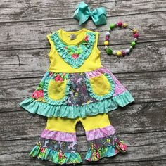 baby girls Summer spring clothes girls clothing children floral unicorn outfits ruffle capri outfits with matching accessories #outfit #spring #oprah #dress #shopping #babieswithstyle #kidslookbook #swing #boutique #mamabear #persnickety #momprenuer #ent