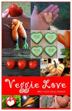 For the love of Valentine veggies. Thanks to 21acres.org for the poster. #eatlocal #garden