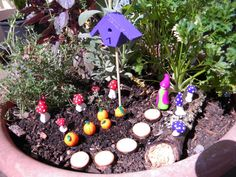 DIY Miniature Fairy Garden with Gnomes by castlesanddreams on Etsy, $15.00