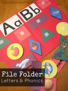 Help pre-readers with phonics and letter recognition by making fun file folders to practice. Free printables at Relentlessly Fun, Deceptively Educational.