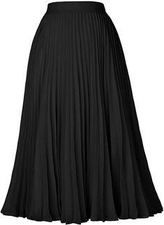 Kate Kasin Women's High Waist Pleated A-Line Swing Skirt KK659 at Amazon Women's Clothing store Midi Flare Skirt, Pleated Midi Skirt, High Waisted Skirt, Skater Skirts, Women's Skirts, Jupe Swing, Swing Skirt, Night Out Skirts, A Line Skirts