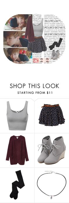 """""""Wonho - Monsta X"""" by typical-ghoul ❤ liked on Polyvore featuring Monki, WithChic and Frasier Sterling"""