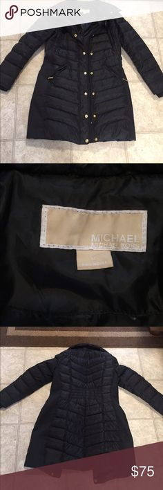 Michael Kors down winter coat Beautiful black down winter coat. Super warm, virtually no wear. Only selling because it's too big on me Michael Kors Jackets & Coats