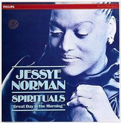 """Jessye Norman, """"Spirituals: Great Day in the Morning,"""" album cover, 1982"""