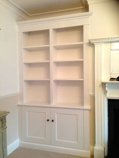 Custom made alcove units - elegant furniture and storage space ideal for TVs and music systems. Call The BookCase Co on 0208 870