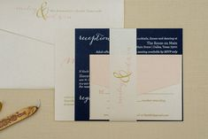 Celebrate your day with a beautiful champagne gold, blush pink and navy wedding invitation set. This design is perfect for. Formal Wedding Invitations, Pink Invitations, Invitation Wording, Wedding Stationary, Invites, Nontraditional Wedding, Elegant Wedding, Fall Wedding, Wedding Shit