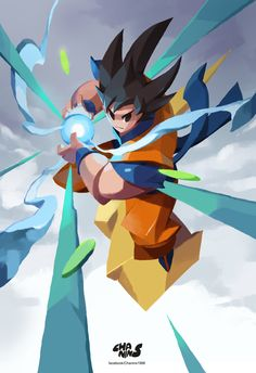 ArtStation - Light of GOKU by chanin suasungnern Dragon Ball Gt, Fanarts Anime, Anime Characters, Character Design References, Character Art, Fan Art, Corpse Party, Grafik Design, Geeks