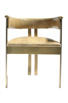Kelly Wearstler Brass Elliott Chair #kellywearstler