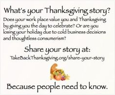 Take Back Thanksgiving! Share Your Story.