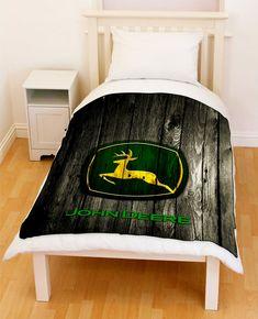 John Deere Wood Fleece Throw Blanket // Price: $51.99 // #follow