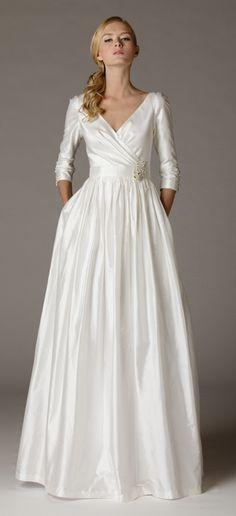 Style 257. Surplice wedding dress Ariadress.com