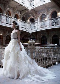 Karina Smirnoff's wedding dress. Lazaro.  PERFECT!