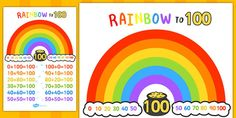 * NEW * Number Bonds to 100 Rainbow - This handy set of themed number bonds to 100 are a great way of reinforcing addition, subtraction, counting on, counting back, and general number recognition. With butterflies to represent the different numbers this is a brilliant resource for more visual learning.
