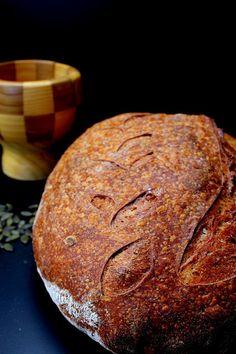 Vadkovászsuli: Tökmagos, kovászos öreg tésztás kenyér hűtős keles...