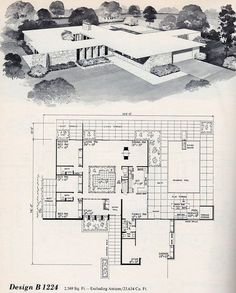 Mid Century House Plans Best Of Vintage House Plans Mid Century Homes Homes - Home House Floor Plans The Plan, How To Plan, Modern Floor Plans, House Floor Plans, Midcentury Modern House Plans, Modern Bungalow, Mcm House, Vintage House Plans, Vintage Houses
