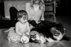 Maybe we'll have a Bernese Mountain Dog by her first birthday... and we can take a pic like this.