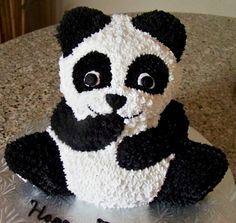 1000 images about birthday ideas on pinterest panda for Panda bear cake template