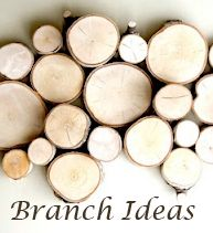 Collection of inspiring posts on using branches in Decor