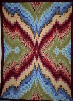 Bargello Quilt Top 50.  This would be cool as a crocheted afghan.