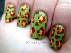 Lurid Leopard Print by fingerfood - Nail Art Gallery nailartgallery.nailsmag.com by Nails Magazine www.nailsmag.com #nailart
