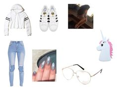 """""""outfit 7"""" by oufits247 on Polyvore featuring Hollister Co., adidas Originals and Forever 21"""
