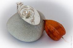 Silver spoon wire work pendant with pearl; http://de.dawanda.com/shop/Miaba