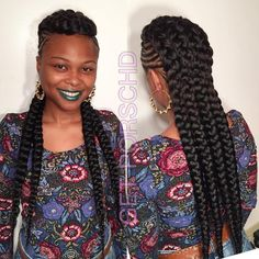 Braided+Mohawk+With+Chunky+Braids