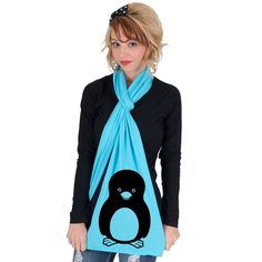 Penguin American Apparel Sheer Jersey Scarf by rainbowswirlz, $18.00