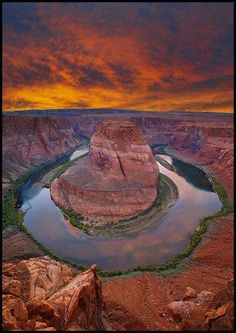 Colorado River at Horseshoe Bend, Glen Canyon Nat Recreation Area, Arizona