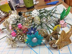 Pinnie Lou: Brooch Bouquet