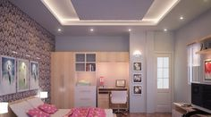35 mẫu trần thạch cao phòng ngủ vợ chồng giúp hạnh phúc thăng hoa Plafond Design, House Plans, Interior Design, Bedroom Suites, Layouts, Home Decor, Blueprints For Homes, Design Interiors, Master Bedrooms