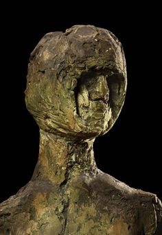 Elisabeth Frink  -   'Birdman' c.1960 Bronze Ed. 1 of 4 FCR75 H.186 cm. (73.3 inches) head detail.