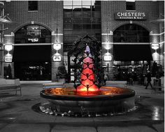 Fountain  -  50 Incredible Black And White Photography With Partial Colors  |  2expertsdesign.com