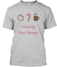 ba3aca03 Holiday Food Groups Light Steel T-Shirt Front Cycling T Shirts, Cheap T  Shirts