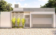 House Wall, My House, Compound Wall, Entrance Gates, Facade House, Fence Design, Home Fashion, Sweet Home, House Design