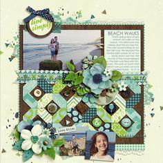 Digital Scrapbook Page Inspiration, Sweet Shoppe Designs - Making Your Memories Sweeter