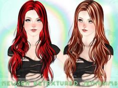 Thin hairstyle   Newsea Hair SandGlass Retextured by Jenni Sims for Sims 3